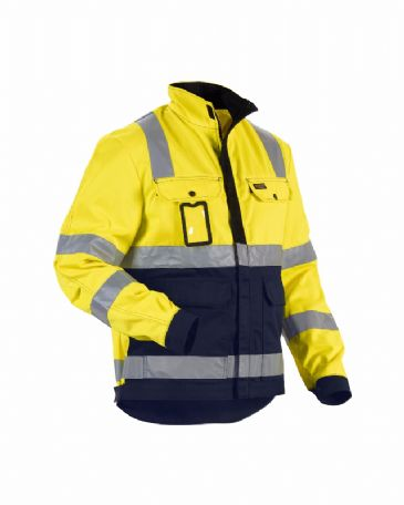 Blaklader 4023 High Vis Jacket (Yellow/Navy Blue)